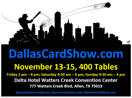 Dallas Card Show 2020-11-13 Event Flyer