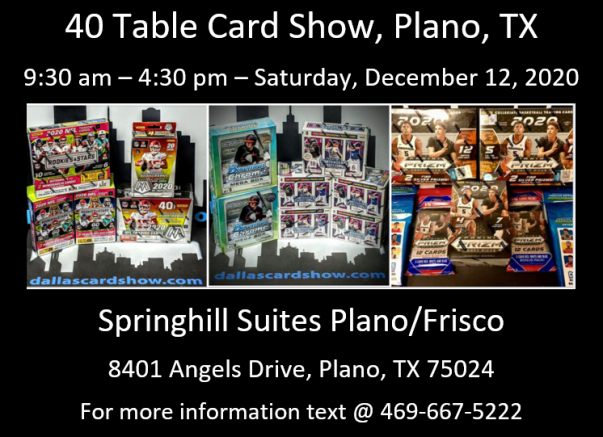 Dallas Card Show 2020-12-12 Event Flyer