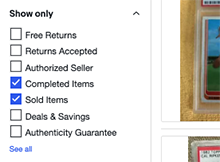 How to Access eBay Completed Sold Listings