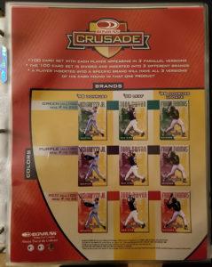 1998 Donruss Crusade Sell Sheet