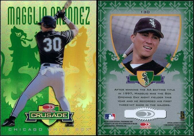 Magglio Ordonez 1998 Leaf Rookies and Stars Crusade Update #130 Green Replacement