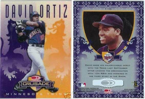 David Ortiz 1998 Leaf Rookies and Stars Crusade Update #110 Purple Replacement