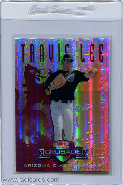 Travis Lee 1998 Leaf Rookies and Stars #105 Red Replacement