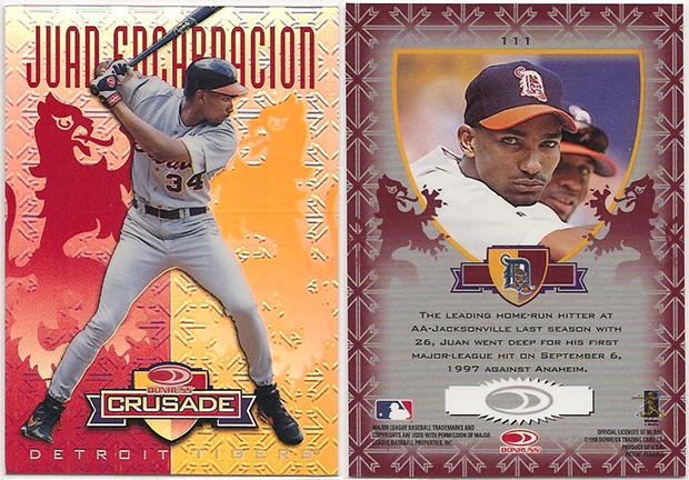 Juan Encarnacion 1998 Leaf Rookies and Stars Crusade Update #111 Red Replacement