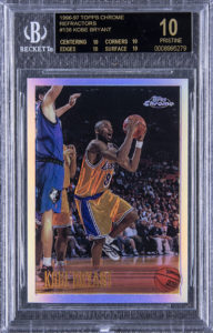 Kobe Bryant 1996-97 Topps Chrome #138 Refractor BGS 10 Black Label