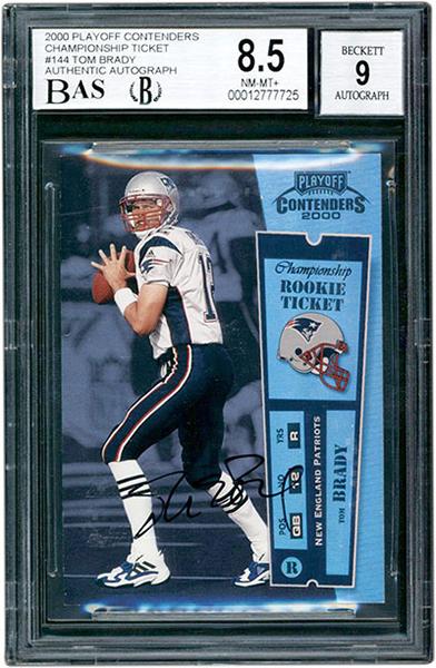 Tom Brady 2000 Playoff Contenders #144 Championship Ticket /100 BGS 8.5