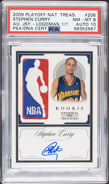 Stephen Curry 2009-10 Playoff National Treasures Rookies #206 Black