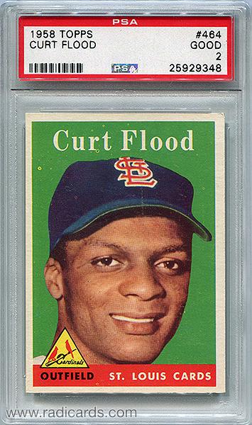 Curt Flood 1958 Topps #464