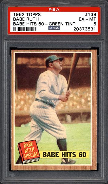 Babe Ruth 1962 Topps #139 v1.1