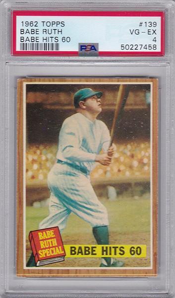 Babe Ruth 1962 Topps #139 v1.2