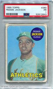 Reggie Jackson 1969 Topps #260