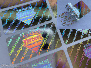 Branded Tamper Proof Stickers Silver Hologram with VOID Peel-Off